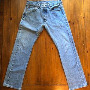 Men's Levi's 501 Button Fly Jeans Light 31 x 30